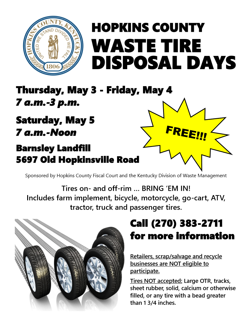 2018 waste tire disposal days image